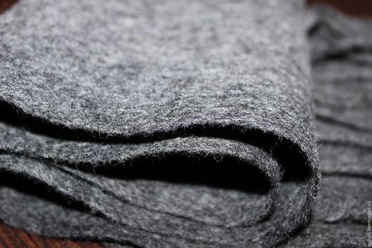 Шарфы и шарфики ручной работы. Ярмарка Мастеров - ручная работа. Купить Шарф мужской валяный теплый шерстяной под пальто серый стальной монохр. Handmade.