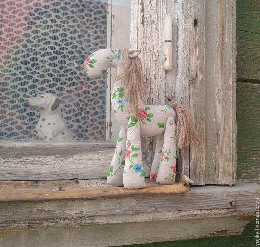Игрушки животные, ручной работы. Ярмарка Мастеров - ручная работа. Купить Лошадка. Handmade. Серый, коняшка, лошадь, лён