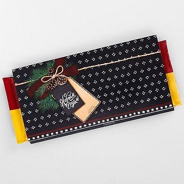 Материалы для творчества ручной работы. Ярмарка Мастеров - ручная работа Этикетка для шоколада Вязаный. Handmade.