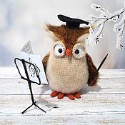 Куклы и игрушки handmade. Livemaster - original item Owl - music teacher. Handmade.