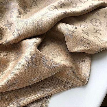Аксессуары ручной работы. Ярмарка Мастеров - ручная работа Платок в стиле Louis Vuitton бежевый с люрексом. Handmade.