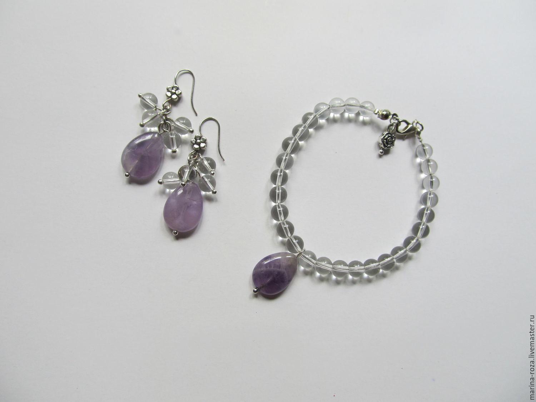 "Браслет и серьги ""Лаванда"", Jewelry Sets, Moscow,  Фото №1"