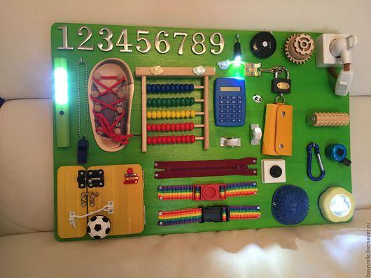 Развивающие игрушки ручной работы. Ярмарка Мастеров - ручная работа. Купить Бизиборд. Handmade. Комбинированный, бизиборды, бизиборд на заказ