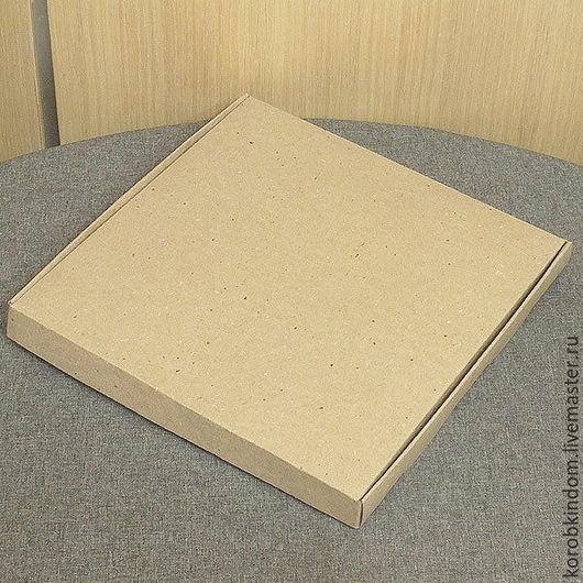 Упаковка ручной работы. Ярмарка Мастеров - ручная работа. Купить Коробка 28х28х3 крафт. Handmade. Коробочка, коробка для мыла, коричневый