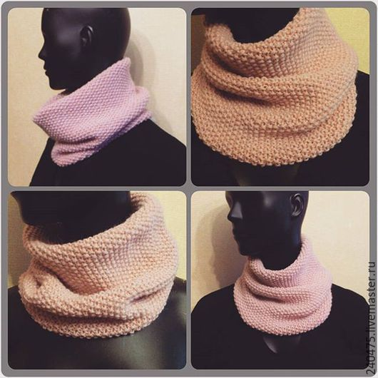 Шарфы и шарфики ручной работы. Ярмарка Мастеров - ручная работа. Купить снуд-шарф. Handmade. Розовый, снуд, шарф