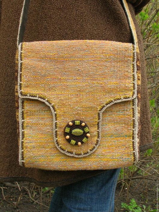Женские сумки ручной работы. Ярмарка Мастеров - ручная работа. Купить Тканая сумка. Handmade. Сумка, однотонный, текстиль, шерсть