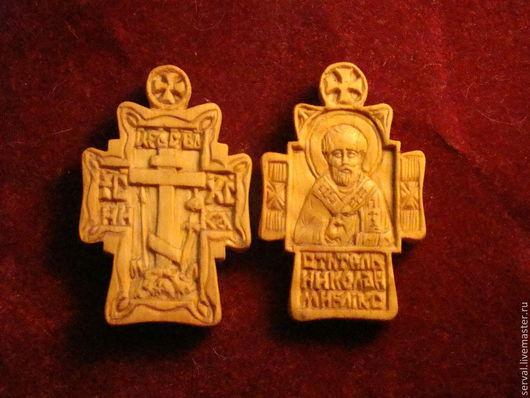 Подарки на Пасху ручной работы. Ярмарка Мастеров - ручная работа. Купить крест нательный. Handmade. Желтый, миниатюра, дерево самшит