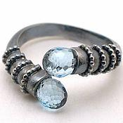 Украшения handmade. Livemaster - original item Ring made of silver with inlays of blue Topaz For a meeting. Handmade.