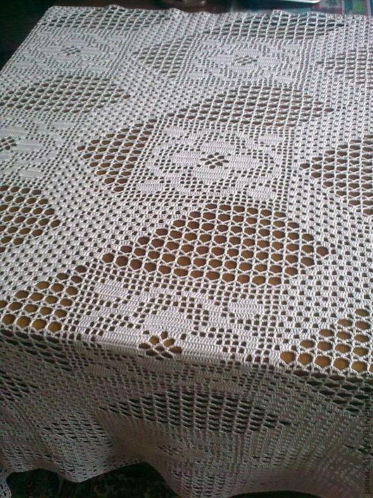 """Текстиль, ковры ручной работы. Ярмарка Мастеров - ручная работа. Купить Скатерть """"Четырёхлистный клевер"""". Handmade. Бежевый, подарок на свадьбу"""
