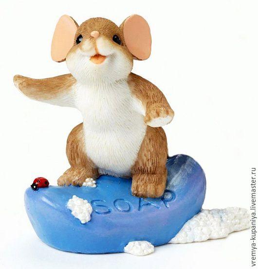 """Материалы для косметики ручной работы. Ярмарка Мастеров - ручная работа. Купить 3D Силиконовая форма для мыла  """"Мышонок с мылом"""". Handmade."""