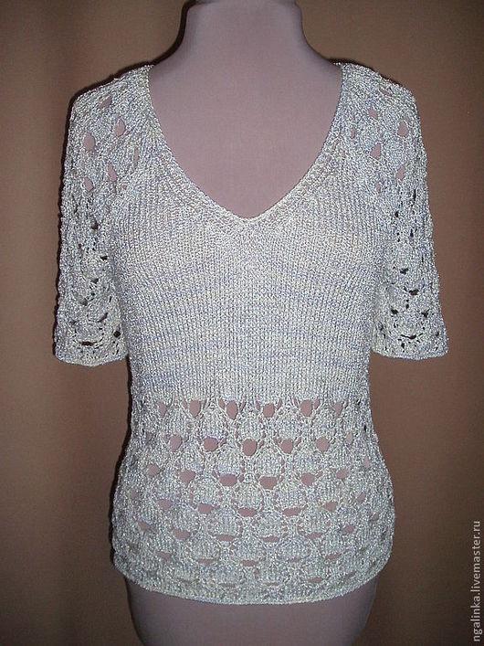 Топы ручной работы. Ярмарка Мастеров - ручная работа. Купить блузка из вискозной ленточки Прохладная. Handmade. Абстрактный, переход цвета