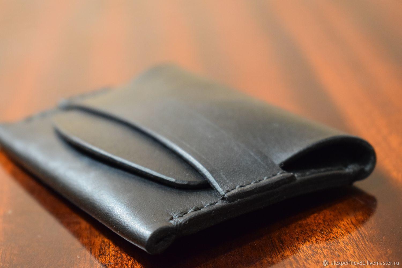 Визитница, мини-кошелек, черный, Визитницы, Кострома,  Фото №1