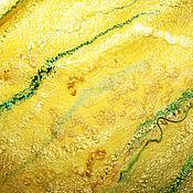 """Шали ручной работы. Ярмарка Мастеров - ручная работа Палантин валяный нунофелтинг """" Мимоза"""". Handmade."""
