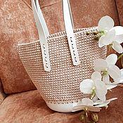 Сумка-шоппер ручной работы. Ярмарка Мастеров - ручная работа Вязаная сумка шоппер. Handmade.
