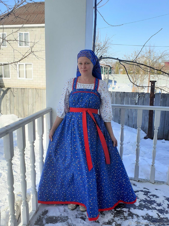 """Женский традиционный костюм """"Голубика"""", Народные платья, Тольятти,  Фото №1"""