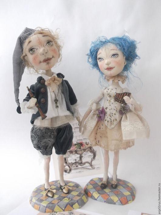 Коллекционные куклы ручной работы. Ярмарка Мастеров - ручная работа. Купить Золотой ключик продано. Handmade. Голубой, театральная кукла