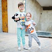 Работы для детей, ручной работы. Ярмарка Мастеров - ручная работа Пижама детская с иллюстрацией. Handmade.