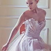 """Одежда ручной работы. Ярмарка Мастеров - ручная работа Платье розового цвета """" Бутон"""",на корсете. Handmade."""