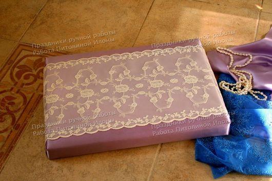 """Подарочная упаковка ручной работы. Ярмарка Мастеров - ручная работа. Купить """"Purple dreams"""" - упаковка подарка. Handmade. Сиреневый, кружево"""