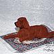 Игрушки животные, ручной работы. Ярмарка Мастеров - ручная работа. Купить Собака сеттер Рэджи. Собака из войлока. Handmade. Сеттер