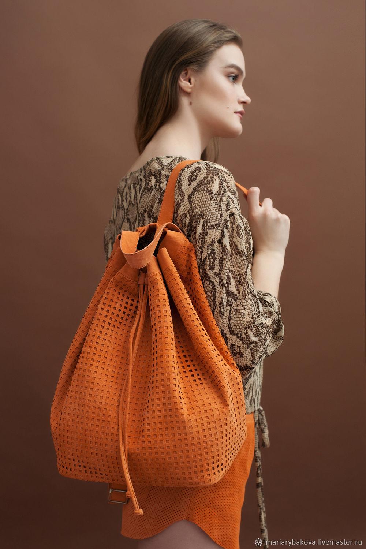 Большой рюкзак из натуральной замши, Рюкзаки, Тверь,  Фото №1