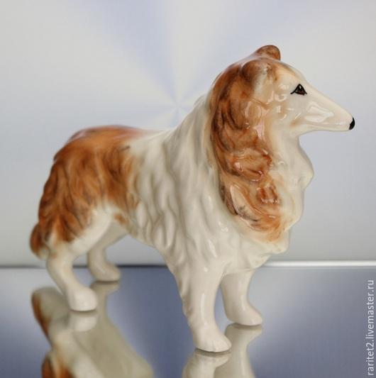 Винтажные предметы интерьера. Ярмарка Мастеров - ручная работа. Купить Собака колли Англия 19. Handmade. Разноцветный, скульптура