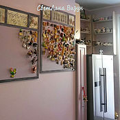 Для дома и интерьера ручной работы. Ярмарка Мастеров - ручная работа Магнитная доска на стену на кухню (декупаж, прованс, цветы). Handmade.
