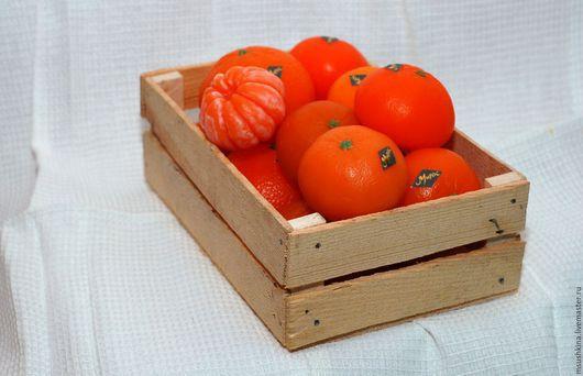 """Мыло ручной работы. Ярмарка Мастеров - ручная работа. Купить мыло """"мандарин"""". Handmade. Оранжевый, мыло в подарок, мыло"""