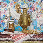 Картины ручной работы. Ярмарка Мастеров - ручная работа Праздничное чаепитие. Handmade.