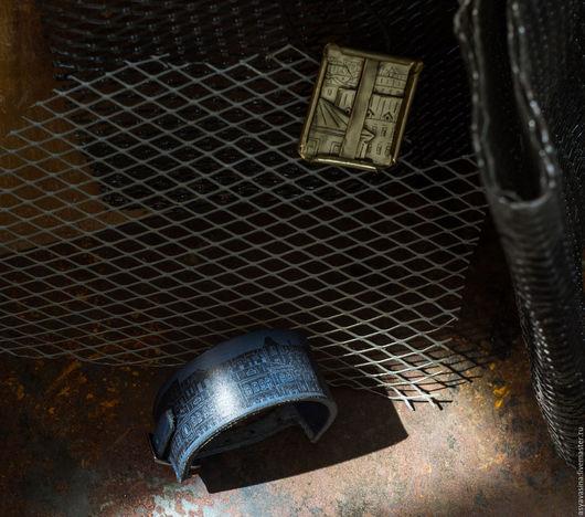 Комплекты украшений ручной работы. Ярмарка Мастеров - ручная работа. Купить Комплект Городские крыши (браслет и кулон). Handmade. Золотой