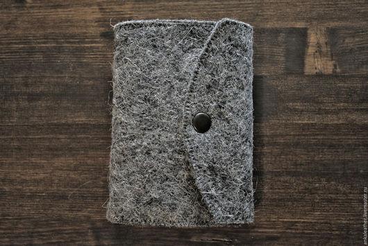 Блокноты ручной работы. Ярмарка Мастеров - ручная работа. Купить Блокнот войлочный. Handmade. Серый, войлок, ежедневник, софтбук