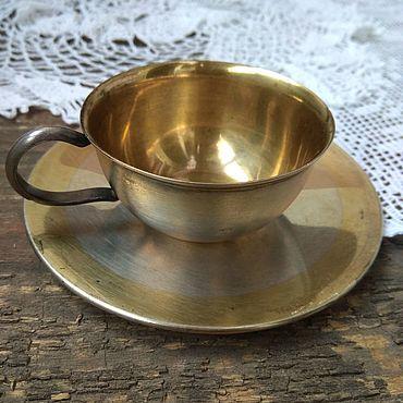 Винтаж ручной работы. Ярмарка Мастеров - ручная работа Кофейная пара мельхиор. Handmade.