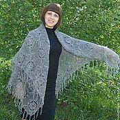 Аксессуары handmade. Livemaster - original item 70 gray shawl, crochet, shawl, accessories. Handmade.