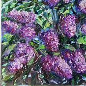 handmade. Livemaster - original item Lilac. oil painting 40h60. Handmade.