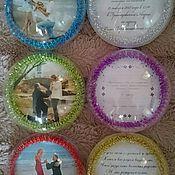 """Подарки к праздникам ручной работы. Ярмарка Мастеров - ручная работа """"Приглашение на свадьбу"""" елочный шар. Handmade."""