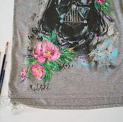 Одежда ручной работы. Ярмарка Мастеров - ручная работа женская футболка Дарт Вейдер. Handmade.