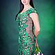 """Платья ручной работы. Платье """"Амазонка"""",ирландское кружево. Marina Sheina (aqur). Ярмарка Мастеров. Изумрудный, связано крючком"""