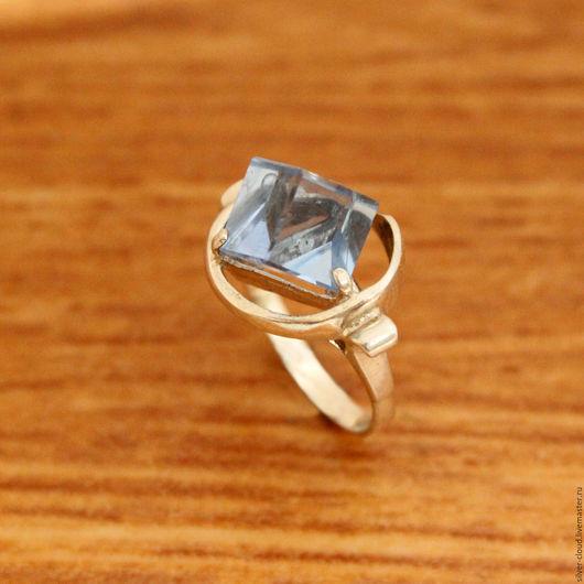 Кольца ручной работы. Ярмарка Мастеров - ручная работа. Купить Серебряное кольцо Кубик, серебро 925 пробы. Handmade. Голубой