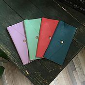 Сумки и аксессуары handmade. Livemaster - original item The wallet is made of genuine leather in stock. Handmade.