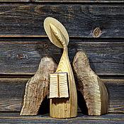Для дома и интерьера handmade. Livemaster - original item Guardian angel of books. Wooden figurine made of various types of wood.. Handmade.