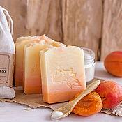 """Косметика ручной работы. Ярмарка Мастеров - ручная работа """"Персиковый йогурт"""" натуральное шелковое мыло с нуля. Handmade."""