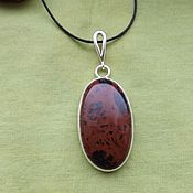 Украшения handmade. Livemaster - original item Pendant with obsidian. Handmade.
