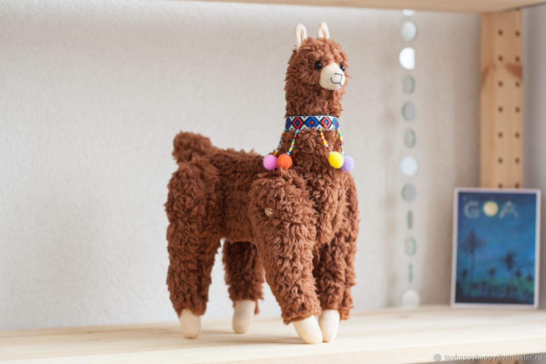Alpaca Fedor toy soft toy handmade llama BROWN, Stuffed Toys, Dzerzhinsky,  Фото №1
