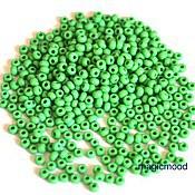 Материалы для творчества handmade. Livemaster - original item 10 grams of 10/0 seed Beads, Premium Czech Republic Preciosa 53250 medium green naprosn. Handmade.