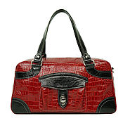 Классическая сумка ручной работы. Ярмарка Мастеров - ручная работа Сумка кожаная женская. Красная сумка из кожи. Handmade.