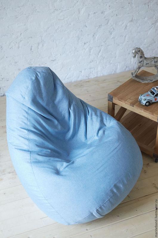 """Мебель ручной работы. Ярмарка Мастеров - ручная работа. Купить Кресло-мешок """"Богемия"""" М. Handmade. Голубой, бескаркасная мебель"""