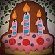 Кулинарные сувениры ручной работы. Заказать Пряничный тортик. Ларка  (Пряники-козули). Ярмарка Мастеров. Большой размер, сувенир