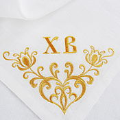 Подарки к праздникам handmade. Livemaster - original item Easter napkin with embroidered