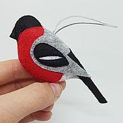 Елочные игрушки ручной работы. Ярмарка Мастеров - ручная работа Ёлочная игрушка «Снегирь» (крупный). Handmade.