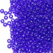 Материалы для творчества ручной работы. Ярмарка Мастеров - ручная работа Бисер ТОХО круглый 11/0 синий прозрачный, TOHO Beads 10гр. Handmade.